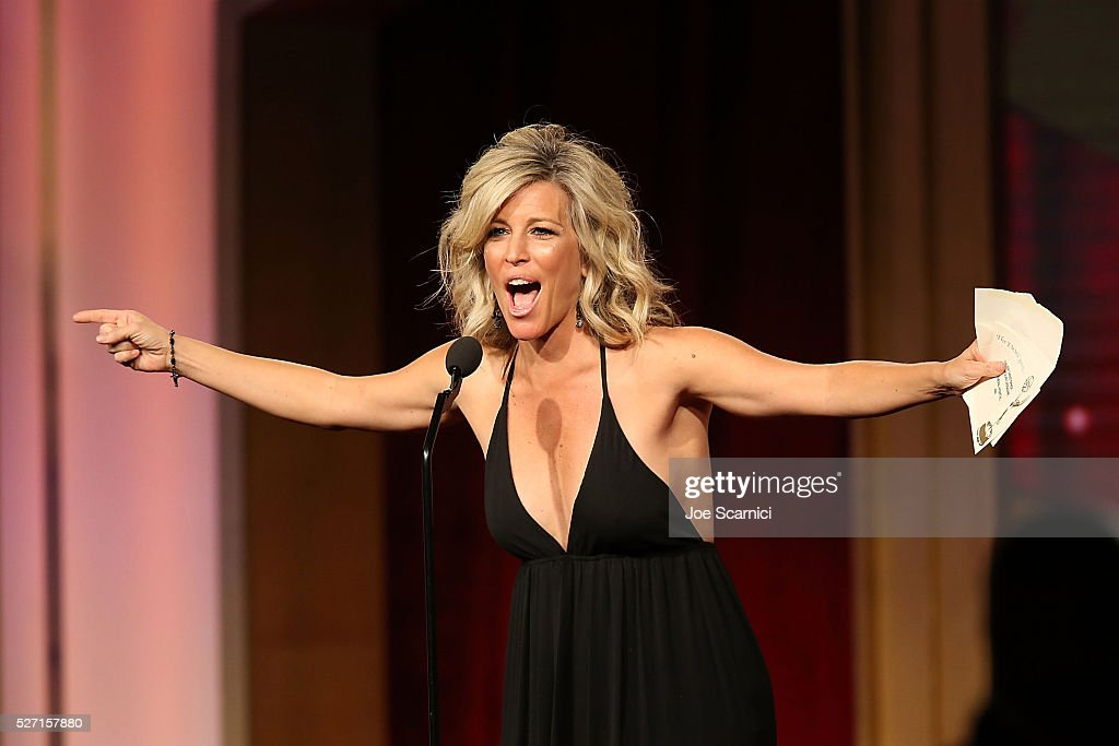 Actress Laura Wright presents on stage at the 43rd Annual Daytime Emmy Awards at the 2016 Daytime Emmy Awards at Westin Bonaventure Hotel on May 1, 2016 in Los Angeles, California.