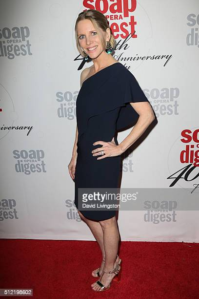 Actress Lauralee Bell arrives at the 40th Anniversary of the Soap Opera Digest at The Argyle on February 24 2016 in Hollywood California