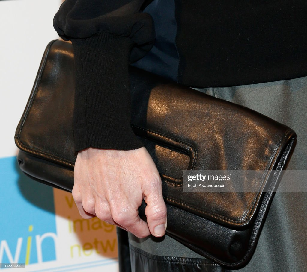 Actress Lauralee Bell (clutch detail) attends the 14th Annual Women's Image Network Awards at Paramount Theater on the Paramount Studios lot on December 12, 2012 in Hollywood, California.