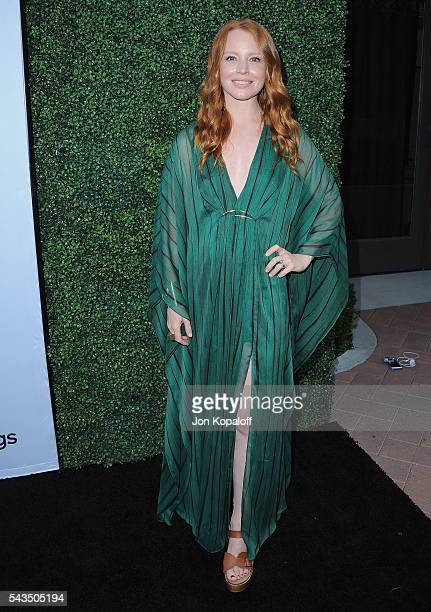 Actress Lauren Ambrose arrives at Sony Pictures Television Social Soiree Featuring Amazon Pilots 'The Last Tycoon' And 'The Interestings' at Sony...