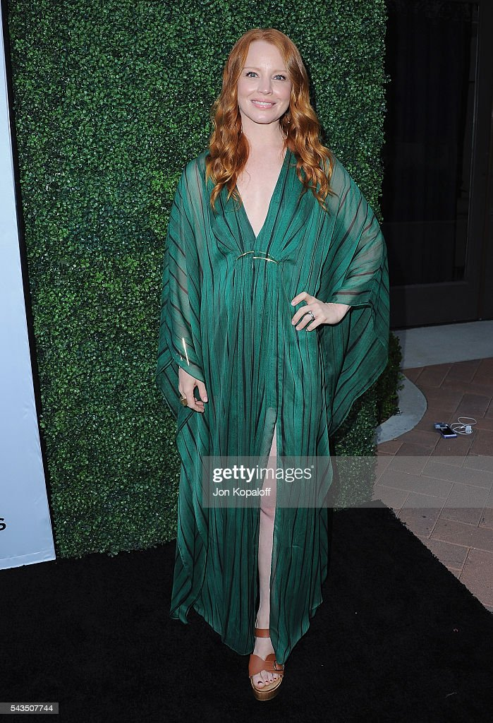 Actress Lauren Ambrose arrives at Sony Pictures Television Social Soiree Featuring Amazon Pilots, 'The Last Tycoon' And 'The Interestings' at Sony Pictures Studios on June 28, 2016 in Culver City, California.