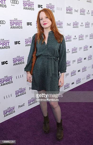 Actress Lauren Ambrose with Jameson prior to the 2012 Film Independent Spirit Awards at Santa Monica Pier on February 25 2012 in Santa Monica...