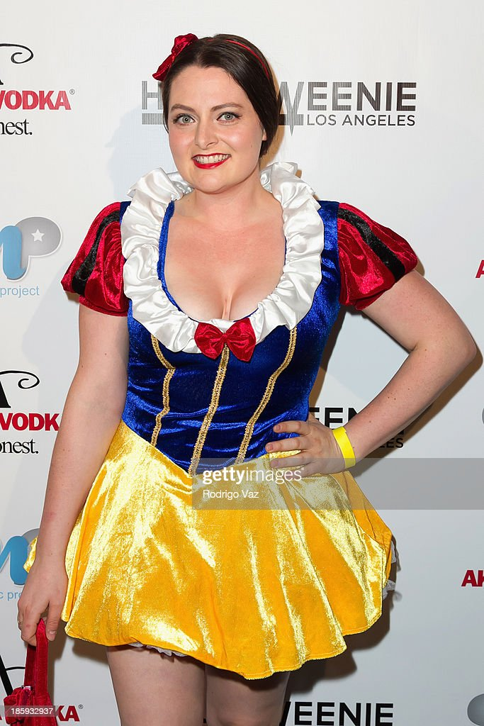 Actress <a gi-track='captionPersonalityLinkClicked' href=/galleries/search?phrase=Lauren+Ash&family=editorial&specificpeople=10940938 ng-click='$event.stopPropagation()'>Lauren Ash</a> attends Fred and Jason's 8th Annual 'Halloweenie' Holiday Concert By The Gay Men's Chorus of Los Angeles at Los Angeles Theatre on October 25, 2013 in Los Angeles, California.