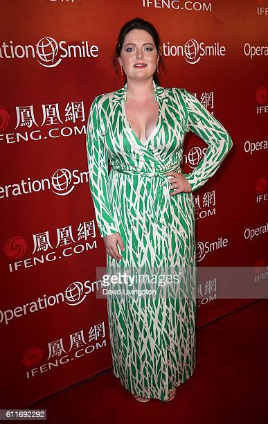 Actress Lauren Ash attends Operation Smile's Annual Smile Gala at the Beverly Wilshire Four Seasons Hotel on September 30 2016 in Beverly Hills...