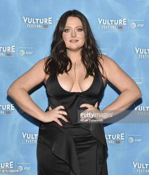 Actress Lauren Ash attends the 'UNReal vs Superstore PopCulture Trivia Game Show' at Vulture Festival Los Angeles at Hollywood Roosevelt Hotel on...