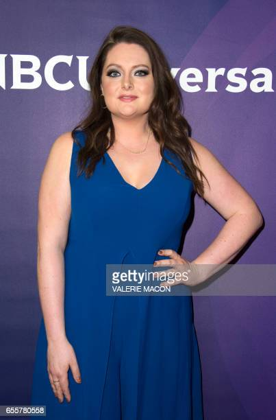 Actress Lauren Ash of 'Superstore' arrives at the NBC Universal Summer Press Day at the Beverly Hilton on March 20 Beverly Hills California / AFP...