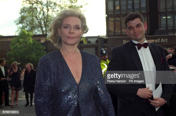 Actress Lauren Bacall arrives at the Royal Albert Hall for the BAFTA Award ceremony