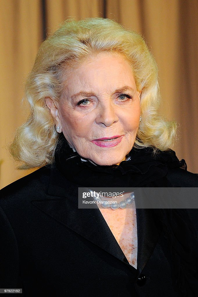 Actress Lauren Bacall arrives backstage at the 82nd Annual Academy Awards held at Kodak Theatre on March 7 2010 in Hollywood California