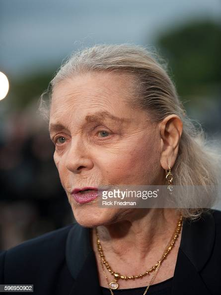 Actress Lauren Bacall arriving at the memorial service honoring Senator Edward M Kennedy the John F Kennedy Library in Boston MA on August 28 2009...