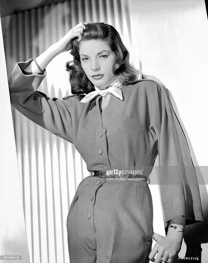 Actress Lauren Bacall in a promotional shot for Warner Bros Studios 1945