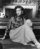 Actress Lauren Bacall posed for publicity handout Warner Bros Pictures Undated photograph