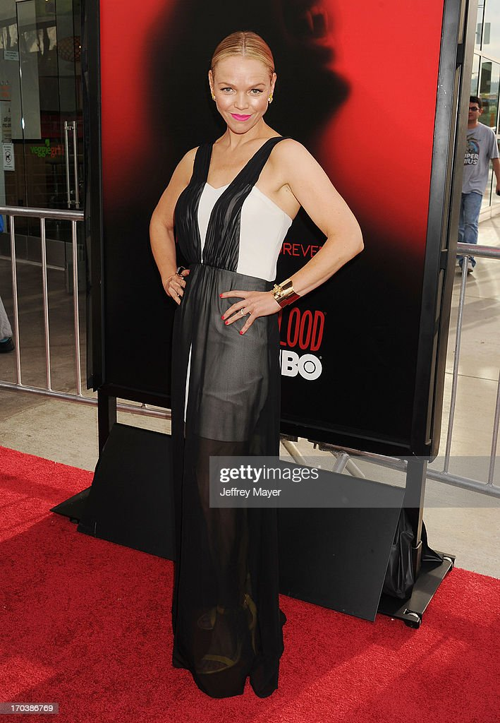Actress Lauren Bowles arrives at HBO's 'True Blood' season 6 premiere at ArcLight Cinemas Cinerama Dome on June 11, 2013 in Hollywood, California.