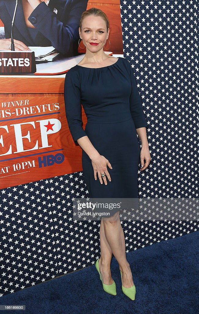 Actress Lauren Bowles attends the premiere of HBO's 'VEEP' Season 2 at Paramount Studios on April 9, 2013 in Hollywood, California.