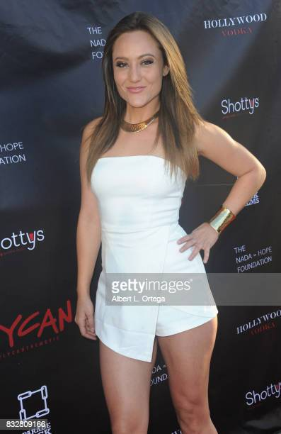 "Actress Lauren C Mayhew arrives for the Premiere Of Parade Deck's ""Lycan"" held at Laemmle's Ahrya Fine Arts Theatre on August 15 2017 in Beverly..."