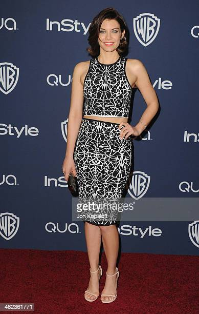 Actress Lauren Cohan arrives at the 2014 InStyle And Warner Bros 71st Annual Golden Globe Awards PostParty on January 12 2014 in Beverly Hills...