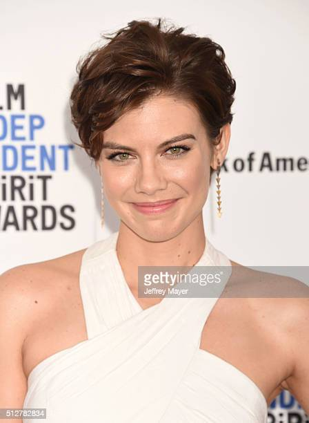 Actress Lauren Cohan arrives at the 2016 Film Independent Spirit Awards on February 27 2016 in Santa Monica California