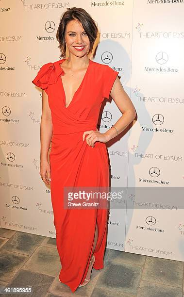 Actress Lauren Cohan arrives at The Art of Elysium's 7th Annual HEAVEN Gala presented by MercedesBenz at Skirball Cultural Center on January 11 2014...