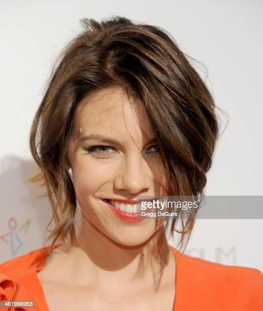 Actress Lauren Cohan arrives at The Art of Elysium's 7th Annual HEAVEN Gala at the Guerin Pavilion at the Skirball Cultural Center on January 11 2014...