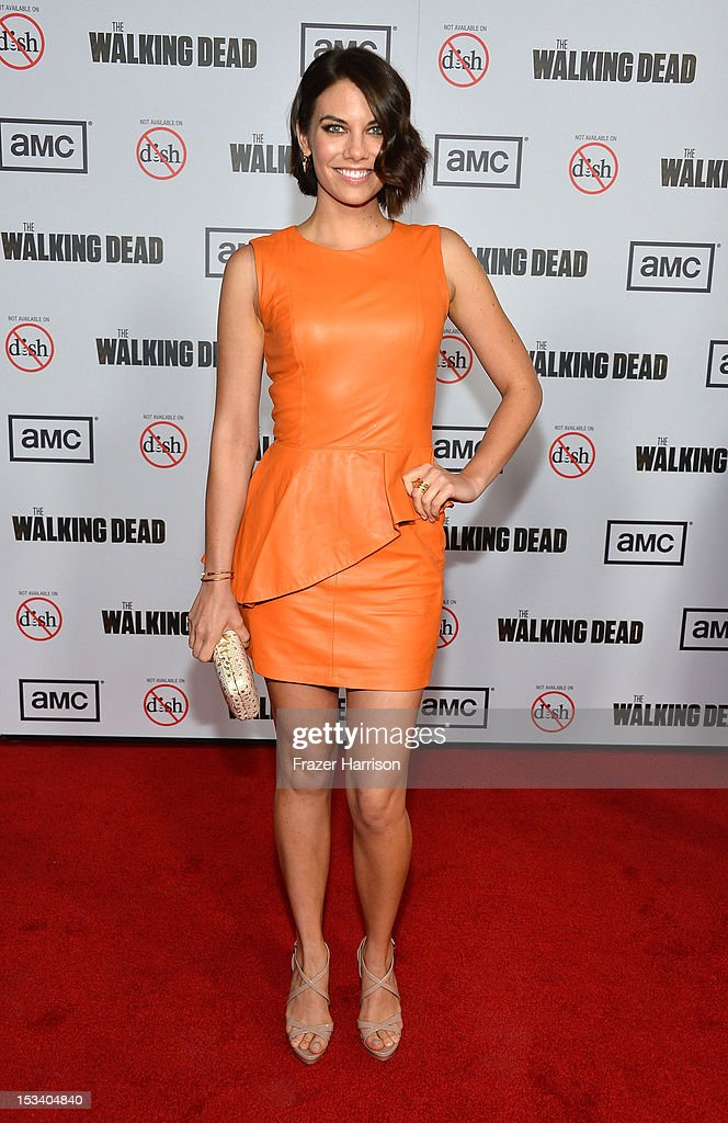Actress Lauren Cohan arrives at the premiere of AMC's 'The Walking Dead' 3rd Season at Universal CityWalk on October 4, 2012 in Universal City, California.