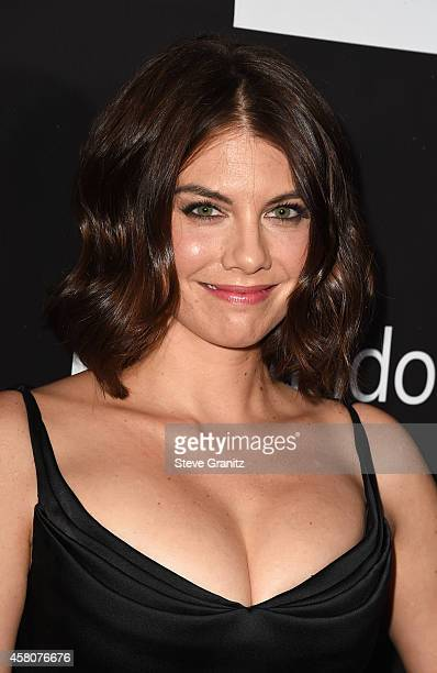 Actress Lauren Cohan attends amfAR LA Inspiration Gala honoring Tom Ford at Milk Studios on October 29 2014 in Hollywood California