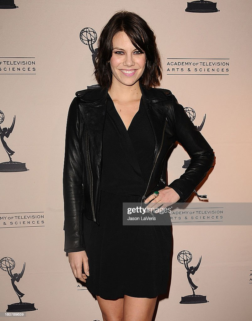Actress Lauren Cohan attends an evening with 'The Walking Dead' at Leonard H. Goldenson Theatre on February 5, 2013 in North Hollywood, California.