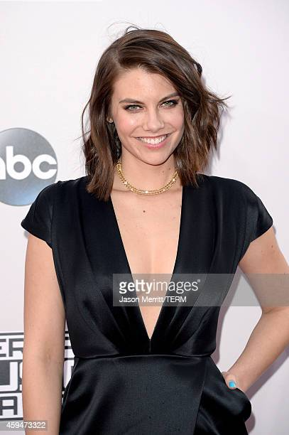 Actress Lauren Cohan attends the 2014 American Music Awards at Nokia Theatre LA Live on November 23 2014 in Los Angeles California