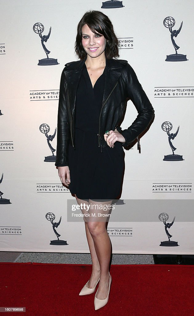 Actress Lauren Cohan attends The Academy Of Television Arts & Sciences Presents An Evening With 'The Walking Dead' at the Leonard H. Goldenson Theatre on February 5, 2013 in North Hollywood, California.