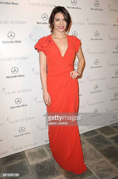 Actress Lauren Cohan attends the Art of Elysium's 7th annual Heavan gala at Skirball Cultural Center on January 11 2014 in Los Angeles California