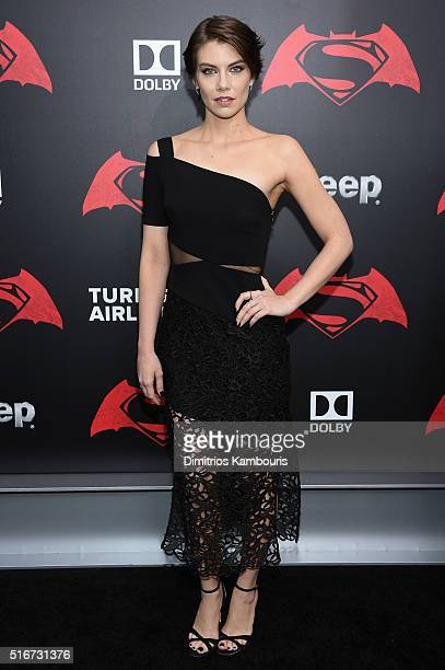 Actress Lauren Cohan attends the 'Batman V Superman Dawn Of Justice' New York Premiere at Radio City Music Hall on March 20 2016 in New York City