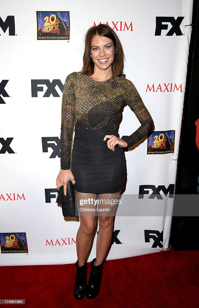 Actress Lauren Cohan attends the Maxim, FX and Home Entertainment Comic-Con Party on July 19, 2013 in San Diego, California.