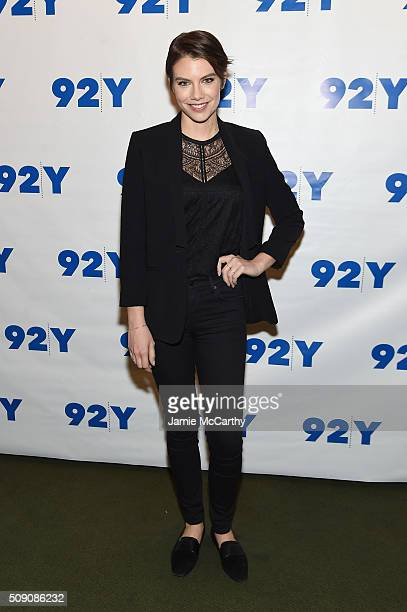 Actress Lauren Cohan attends The Walking Dead Screening and Conversation at the 92nd St Y on February 8 2016 in New York City
