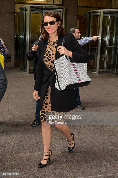 Actress Lauren Cohan leaves the Sirius XM Studios on October 10 2014 in New York City