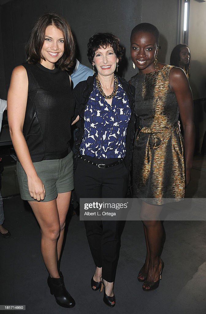 Actress <a gi-track='captionPersonalityLinkClicked' href=/galleries/search?phrase=Lauren+Cohan&family=editorial&specificpeople=4421688 ng-click='$event.stopPropagation()'>Lauren Cohan</a>, producer <a gi-track='captionPersonalityLinkClicked' href=/galleries/search?phrase=Gale+Anne+Hurd&family=editorial&specificpeople=228412 ng-click='$event.stopPropagation()'>Gale Anne Hurd</a> and actress <a gi-track='captionPersonalityLinkClicked' href=/galleries/search?phrase=Danai+Gurira&family=editorial&specificpeople=4488413 ng-click='$event.stopPropagation()'>Danai Gurira</a> attend AMC's 'The Walking Dead' Panel as part of Comic-Con International 2013 held at San Diego Convention Center on Friday July 19, 2012 in San Diego, California.