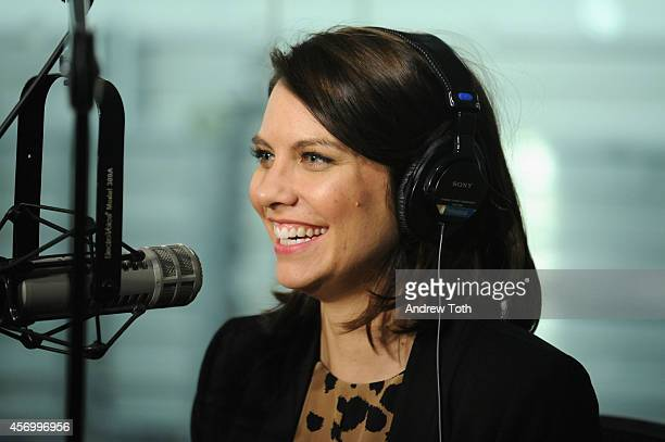 Actress Lauren Cohan visits SiriusXM Studios on October 10 2014 in New York City