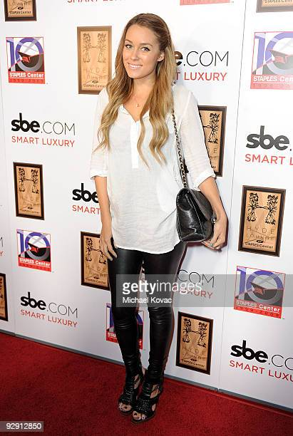 Actress Lauren Conrad arrives at SBE's Hyde Lounge Grand Opening at The Staples Center on November 6 2009 in Los Angeles California