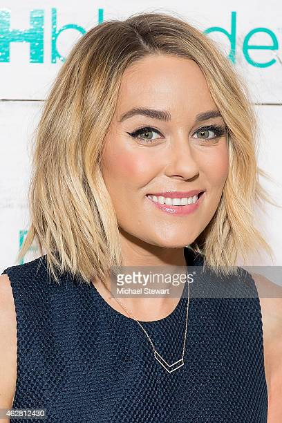 Actress Lauren Conrad attends John Frieda Hair Care Beach Blonde Collection Party at the Garage on February 5 2015 in New York City