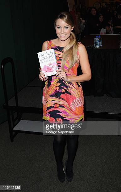 Actress Lauren Conrad promotes 'Sweet Little Lies' at Barnes Noble Tribeca on February 3 2010 in New York City