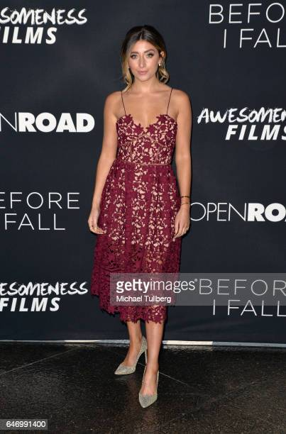 Actress Lauren Elizabeth attends the premiere of Open Road Films' 'Before I Fall' at Directors Guild Of America on March 1 2017 in Los Angeles...