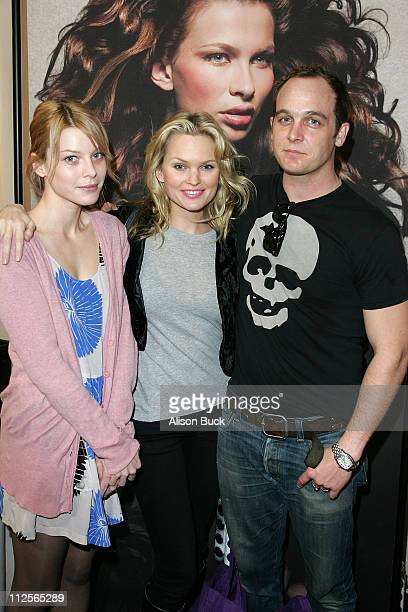 Actress Lauren German actress Sunny Mabrey and actor Ethan Embry attend the Kari Feinstein Winter Style Lounge at Social Hollywood on January 10 2008...
