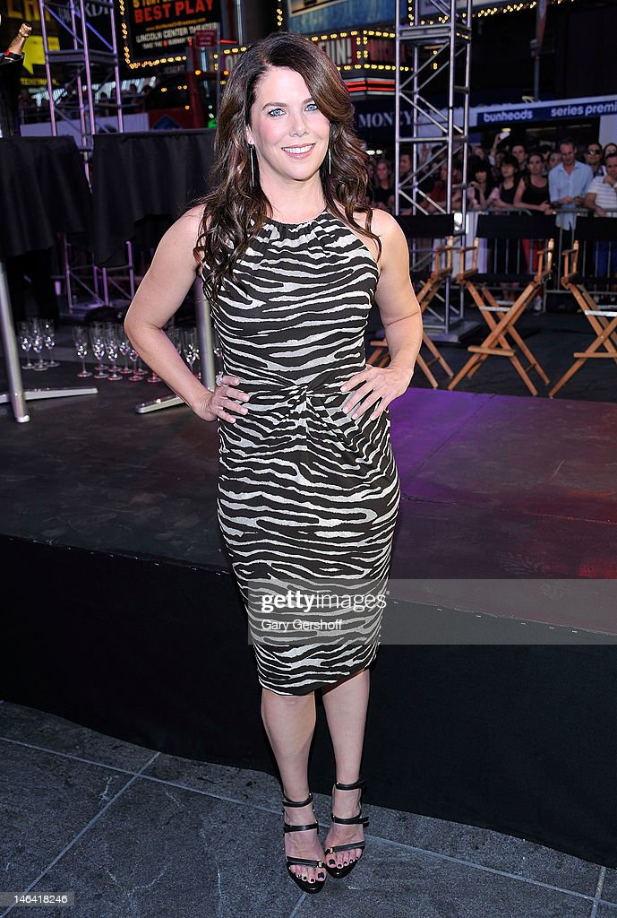 Actress Lauren Graham attends 'Project Runway' 10th Anniversary KickOff in Times Square on June 15 2012 in New York City