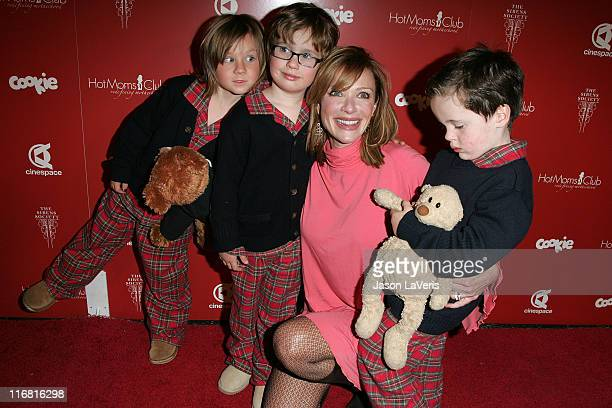Actress Lauren Holly and her sons at the Still Thankful Still Giving Premiere Fundraising Event at Cinespace in Hollywood California on November 29...