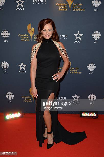 Actress Lauren Holly arrives at the Canadian Screen Awards at Sony Centre for the Performing Arts on March 9 2014 in Toronto Canada