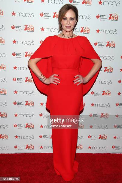 Actress Lauren Holly attends the American Heart Association's Go Red For Women Red Dress Collection 2017 presented by Macy's at Fashion Week in New...