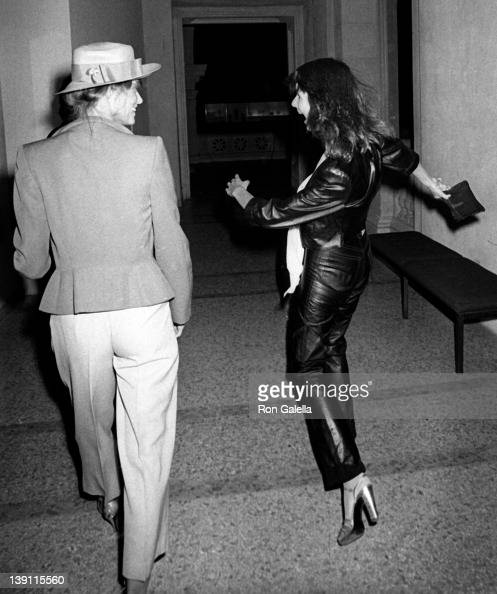 Actress Lauren Hutton and Susie Forrestal attend the party for Richard Avedon Opening on September 13 1978 at Xenon Disco in New York City