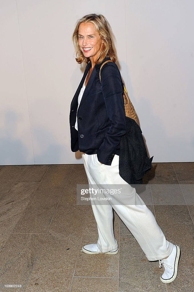 Actress Lauren Hutton attends Fashion's Night Out The Show at Lincoln Center on September 7 2010 in New York City