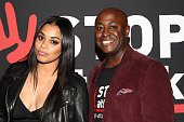 Actress Lauren London and Anthony Bright of STOPATTACK attend the GBK Music Gift Lounge in honor of the 2015 Grammy Nominees held at The Standard...