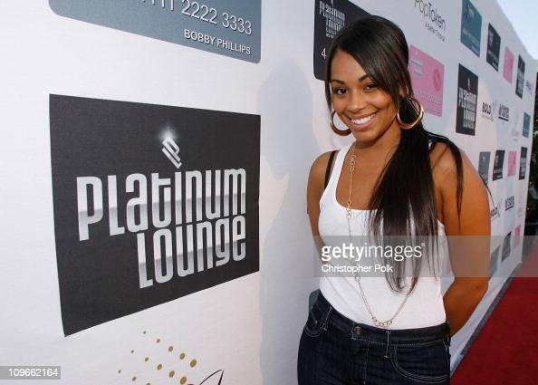 Actress Lauren London arrives at the Hollywood launch of PlatinumLoungecom at The Globe Theatre on July 7 2007 in Los Angeles California