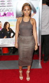 Actress Lauren London attends the premiere of Fox Searchlight Pictures' 'Baggage Claim' at the Regal Cinemas LA Live on September 25 2013 in Los...