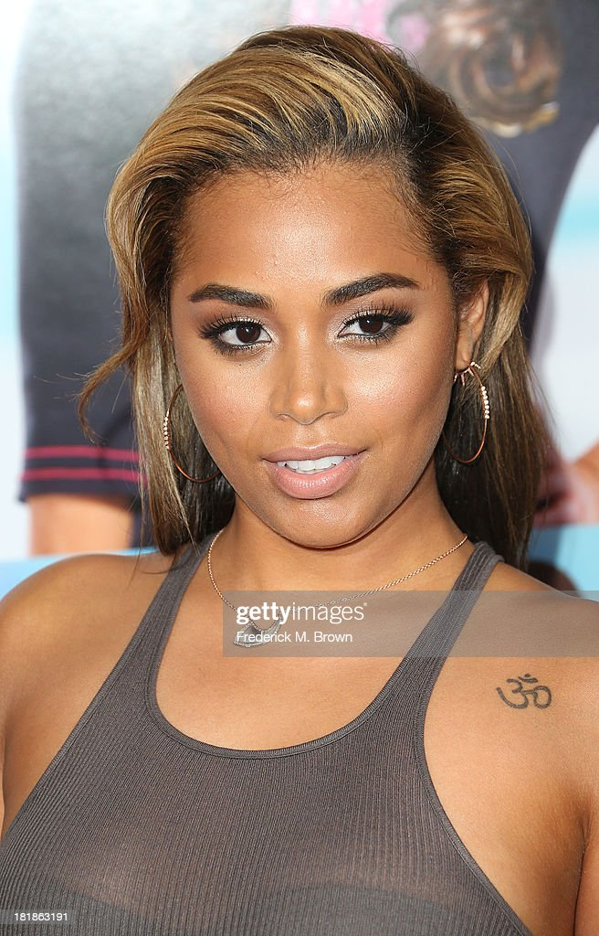 Actress Lauren London attends the premiere of Fox Searchlight Pictures' 'Baggage Claim' at the Regal Cinemas L.A. Live on September 25, 2013 in Los Angeles, California.