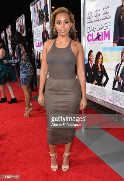 Actress Lauren London attends the premiere of Fox Searchlight Pictures' 'Baggage Claim' at Regal Cinemas LA Live on September 25 2013 in Los Angeles...